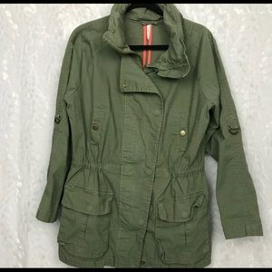 Willow and Clay army green cotton anorak utility